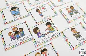 Editable Literacy Center Labels Playdough To Plato