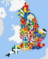 English County Flags Chart Map English Counties And Their Flags Infographic Tv