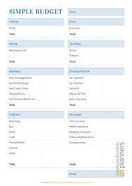 007 Printable Simple Household Budget Worksheet Template