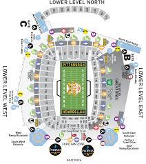 Heinz Stadium Seating Chart Heinz Field Concert Seating Chart Best Seat 2018