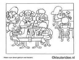 Kleurplaat In De Klas Kleuteridee Preschool Coloring In The