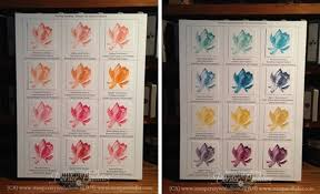 Lotus Flower Color Chart Sale A Brations Lotus Blossom Two Step Stamping Stampin