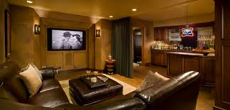 movie room furniture ideas. Furniture. Dark Brown Leather Sofa Plus Table Also Large Screen On The Cream Wall Movie Room Furniture Ideas U