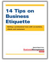 tips on business etiquette setting a professional tone co business etiquette tip 14