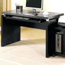 black computer desk coaster l computer desk with keyboard tray in black black computer desk ikea