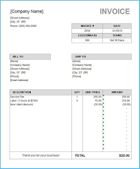Create An Invoice Template In Word Attractive Microsoft Word Invoice Template Free To Create