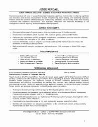 Finance Manager Resume Fresh Resume Template For Scholarship