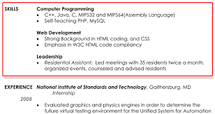 List Of Computer Technology Skills For Resume