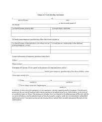 Notarized Letter Of Guardianship Temporary Guardianship Letter Template Temporary