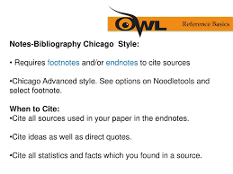 Chicagos Notes And Bibliography Formatting And Style Guide Ppt
