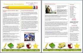 Monthly Newsletter Template For Teachers Floridaframeandart Com Impressive School Newsletter Templates
