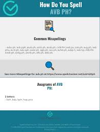 It aims to reproduce all existing sounds in language. Correct Spelling For Avb Ph Infographic Spellchecker Net