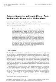 Introduction To Optimum Design Solution Pdf Pdf Optimum Design For Multi Angle Kitchen Grater Mechanism