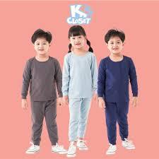 Bộ Quần Áo Dài Tay Cho Bé Trai Và Bé Gái (1-9 Tuổi) K's Closet E014TEF TM |  Quần áo, Áo dài, Dài tay