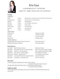 Dance Resumes Examples Dance Resume Examples Dance Resume Samples ...