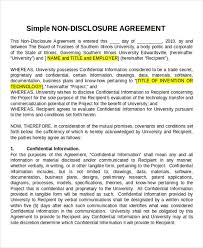 12 Non Disclosure Agreement Templates Free Sample Example