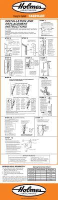 holmes garage hardware installation instructions install guide