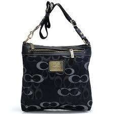 Coach Legacy Swingpack In Signature Large Black Crossbody Bags AVL
