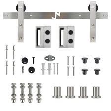 stainless steel sliding barn door track and hardware kit