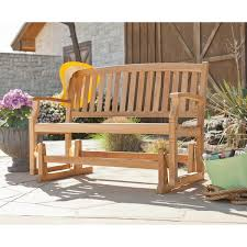Harper Blvd Reseda Teak Outdoor Glider Bench Free Shipping Today