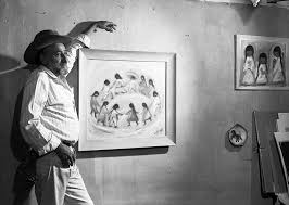 tucson artist ted degrazia in april 1960 next to los niños which was chosen as the official card by unicef in 1960 tucson citizen file photo