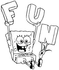 Spongebob Squarepants Coloring Pages Free Trustbanksurinamecom