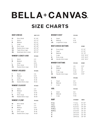 Bella Canvas Hoodie Size Chart M S M S Apparel Order Site