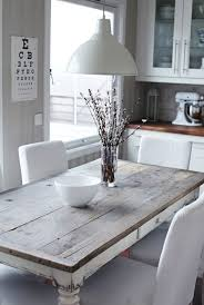 white rustic kitchen table but maybe with antiqued black