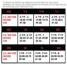 Fly Helmet Size Chart A Helmet Sizing Chart Americancycle Com Order Bmx Bikes