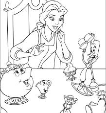 Beauty And The Beast Coloring Pages Free Coloring Page Free