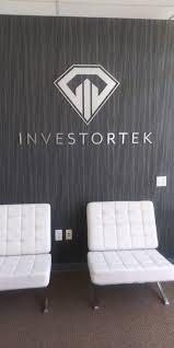 <b>Custom 3D Wall</b> Sign for Investortek - San Marcos, CA - North Coast ...