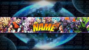 template of a dragon new dbfz youtube banner template dragon ball 2018
