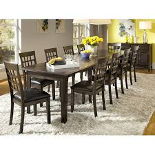 amazon a america bristol point 132 rectangular dining table with 3 24 leaves warm grey kitchen dining
