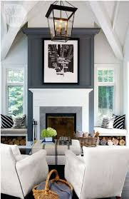gray fireplace accent wall