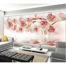orchid wall art awesome new 3d orchid flowers wall paper home decor living room natural art