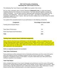 Marketing report assignment