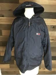 Vintage Tommy Hilfiger Blue <b>Reversible Jacket Mens</b> Size Large ...