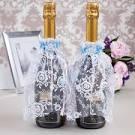 Украшение для бутылки шампанского для свадьбы своими