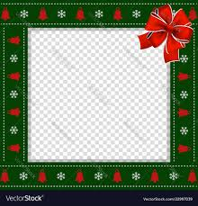 Christmas Or New Year Green Border With