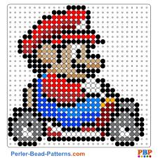 Perler Bead Pattern Gorgeous Mario Kart Perler Bead Pattern And Designs Bead Sprites