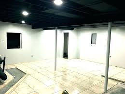 exposed lighting. Exposed Ceiling Lighting Basement Ideas Black Finishing