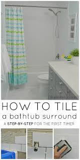 Best  Bathtub Tile Surround Ideas On Pinterest - Small bathroom with tub