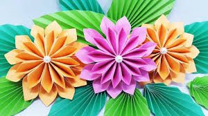 Color Paper Flower Design How To Make Flower Bouquet With Color Paper At Home Diy