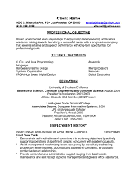 Example Of Resume In English Resume For Study