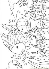 Pages Rainbow Fish001 22 Cartoons Gt Fish Free Printable Cakepins