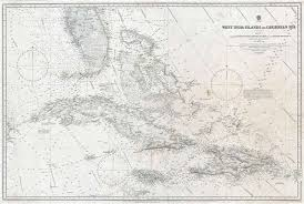 Chart Of Caribbean Islands West India Islands And Caribbean Sea Sheet 1 Comprising
