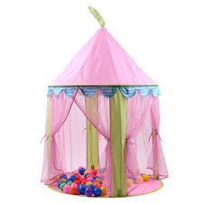girls pink princess castle cute playhouse toys outdoor children kids play tent