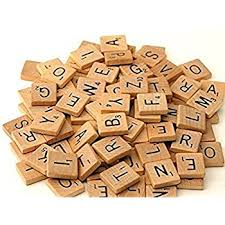 Wooden Game Pieces Bulk Amazon 100 Scrabble Tiles NEW Scrabble Letters Wood 27