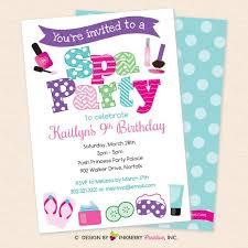 Spa Party Invitation Girls Salon Spa Party Invite Nail Polish Mask Flip Flops Make Up Printable Instant Download Editable Pdf