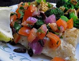 Cod With Mediterranean Salsa Recipe ...